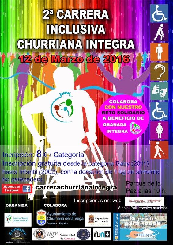 ACTIVIDAD SOLIDARIA II CARRERA INCLUSIVA GRANADA INTEGRA
